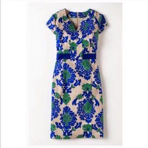 BODEN Tapestry Notched Neck Dress